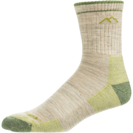 Camp and Hike Before heading to the trailhead, pull up your Darn Tough Women's Micro Crew Cushion Merino Wool Hiking Socks. Featuring high-density cushioning underfoot, these ultra-soft merino wool socks offer support and comfort for high-mileage days and steep descents that would otherwise leave your joints aching. - $18.95