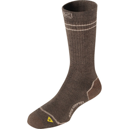 Camp and Hike A blend of merino wool, nylon, and lycra gives the KEEN Men's Bellingham Crew Midweight Socks a soft feel that you'll really appreciate when you're nearing the end of a marathon hike. Ideal for anything from short day trips to multi-day backpack adventures, these KEEN socks withstand all the punishment the trail throws your way. - $17.95