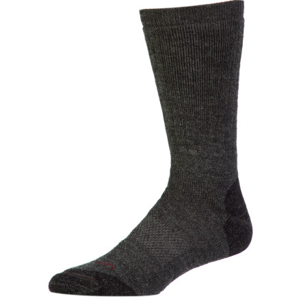 Camp and Hike Reach for the Lorpen Men's Merino Midweight Hiking Crew Sock when you know that the trail will be long and hard. Naturally breathable merino wool fabric helps regulate temperature, synthetic fibers help this sock dry quickly, and light cushioning takes the bite out of rough terrain underfoot. Wear this sock backpacking, hiking, or camping. - $11.37