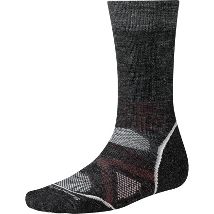Camp and Hike No matter what your profession, if you choose to upgrade your foot cover to the SmartWool PhD Outdoor Medium Crew Sock for cool-weather backpacking, hiking, or strolling, then consider yourself a doctor of smart decision-making. - $23.90
