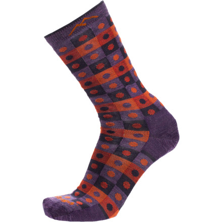 Camp and Hike If you like your Darn Tough hiking socks so much that you wear them around the house and around town, then the Women's Dots and Squares Merino Socks are for you. Darn Tough reinforced these soft merino wool socks with nylon for durability and included spandex for a comfy, arch-supporting fit. These patterned socks are lighter weight than Darn Tough's performance socks, so they'll fit into your casual shoes. - $11.37