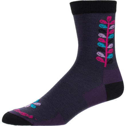Like a soft, natural garden beneath your foot, the Darn Tough Women's Merino Wool Mini Flower Crew Light Sock makes each step a comfy dream come true. - $18.95