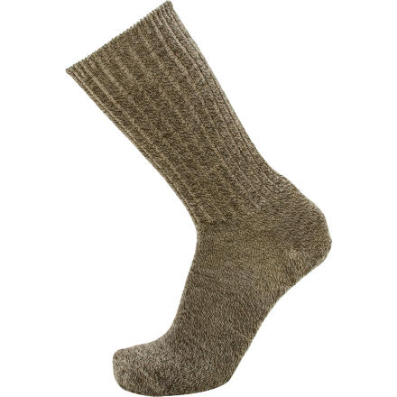 Why save merino for the trail when the Goodhew Mens Durango Sock lets you enjoy itchless, temperature-regulating comfort everywhere you go' This casual sock features a class ribbed design with incorporated spandex to prevent slippage. Flat toe seams wont rub or irritate when youre strolling to work or walking the dogs in the foothills. - $8.48