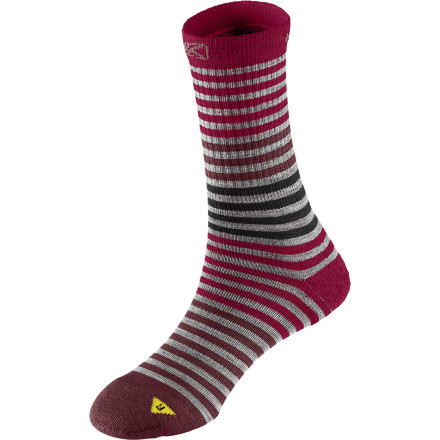 KEEN uses a mix of merino wool, nylon, Lycra, and polyester in its Women's Victoria Crew Light Sock for a mix of warmth, temperature regulation, odor blockage, and durability. - $11.02