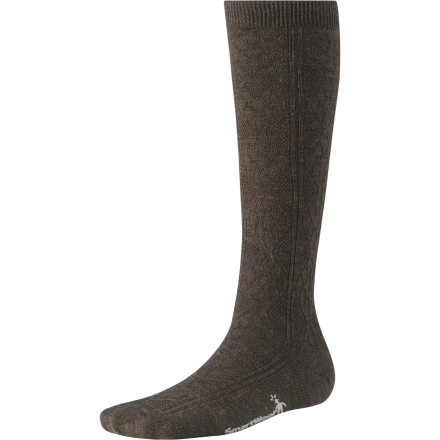 Long underwear beneath your jeans can't be too comfortable, so pull on a pair of the SmartWool Women's Trellis Kneehigh Socks. The knee-high length adds extra warmth and, thanks to its WOW (Wool-On-Wool) technology that packs more merino wool into high-impact and high-wear ares, the Trellis helps reduce shock and abrasion. Breathable fabric also ensures your feet stay comfortable throughout the day. - $21.90