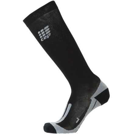 Fitness If you've been on the fence about the benefits of compression, slip on a pair of the CEP Compression Cycle Socks and start believing. Woven from a blend of nylon and elastane, the CEP Compression Socks provide a tight, cradle-like fit to dampen muscle vibration while helping improve blood circulation. Improved blood circulation helps wards off fatigue and decrease recovery timewhat's not to like about that'Anatomical fit for maximum comfort and no bunching Flat toe seams, Achilles tendon support and anatomic foot padding for extra comfort and improved fit Designed for mountain and road cyclists - $59.95
