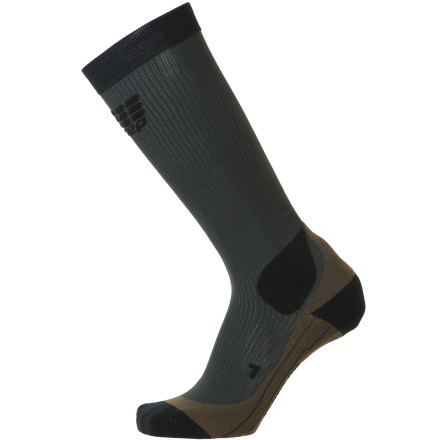 Fitness Designed with a tight, compressive fit, the CEP Women's Outdoor Compression Sock reduces muscle vibrations during workouts for greater energy efficiency and promotes improved circulation of spent blood back to your core for processing. The end result is greater stability while on trail and speedier recovery times post workout. - $59.95