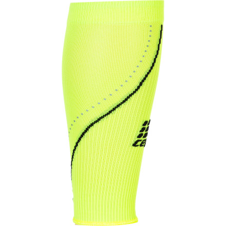Fitness Zap those calves into overdrive with the stimulating, invigorating, and neon-bright CEP Women's Progressive Night Calf Sleeve. Replete with reflectors that are brilliant to the eye, it's also a treat for your muscles, with graduated medi compression that improves blood flow, performance, risk of injury, and recovery time. Hit the road in the silent night and feel the squeeze.Strong, thin-knit nylon and stretchy spandex microfiber breathes and manages moisture for optimal performance Graduated medical-grade compression stimulates blood flow for improved performance, reduction of injury, and shorter recovery time Anatomic fit provides all-day support and maximum comfort Odor-reducing silver ions help keep feet fresh  Neon color and reflectors add visibility in flat light or after the sun sets Comfortable band and soft zone increase wearability - $59.95
