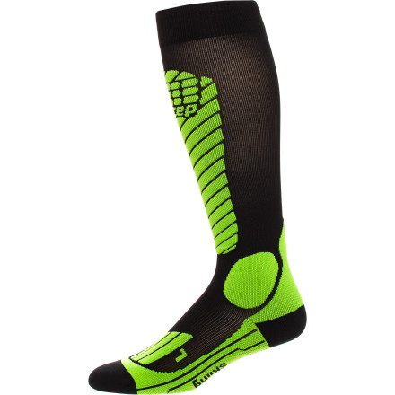 Ski Skintight never felt so good. The thin-knit, breathable, odor-resistant, moisture-managing CEP Women's Racing Ski Compression Sock, with graduated medi-compression, energizes and gets the blood flowing. Not that racing mach 5 down the mountain wouldn't. - $59.95