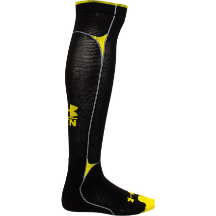 Fitness If you're sick and tired of not being able to feel your feet when you ride, slip on the Under Armour Base 2.0 Compression Sock. Under Armour's ultra-tight compression fit increases blood flow so your feet stay warm, and the flat knit foot and leg areas provide the support you need to stomp big airs and arc massive turns. - $39.95