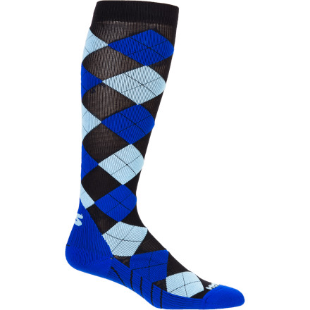 Camp and Hike Wear the Zensah Argyle Compression Sock and help your legs recover quickly after a long run, hike, or training session. This sock features compression material that gently squeezes your foot and calf to improve oxygenated blood flow to your muscles. More oxygenated blood allows your muscles to operate more efficiently, which means you feel more powerful while you run and less fatigued or sore afterward. - $49.99