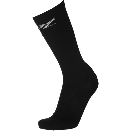 "Fitness Compression socks are a great addition to any endurance athlete's dresser drawer. Compression fabrics stabilize muscles to reduce damage during exercise. The Zoot Women's Performance CompressRX Socks are made from Zoot innovative CRx compression fabric.Graduated in its design, the CRx fabric is made to compress the most at your foot and ease up as it gets closer to your calf; forcing blood flow from the bottom of your legs back to your heart. This reduces lactic acid build-up in your calves and feet, which helps your muscles recover faster. Moisture management and a thin construction keep your temperature regulated and your feet blister free. The ""Y"" shaped heel construction ensures the heel stays uniform with the rest of the sock as it compresses.  The Zoot Women's Performance CompressRX Sock sizing is based on the circumference of your calf, take this into account before buying your usual sock size so you have the best fit for your legs. The socks are available in Patriot Pink, Green, Dark Pink, Purple, Bright Green, and White. The sizes run Small through Large. - $29.22"