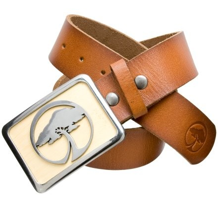 Snowboard Bring some sustainability to your waistline when you strap on the Arbor Large Icon Buckle & Belt. This metal buckle features a direwood inlay reclaimed from Arbor snowboards and skateboards. The top grain leather belt withstands your use and abuse with admirable ease as you shred at the skatepark. Two Arbor Tree logos represent full-force. - $63.95