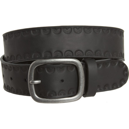 Sorry vegans, the Brixton Cerro Belt just isn't for you. 100% genuine leather with low-key riveted logo detailing. - $38.96