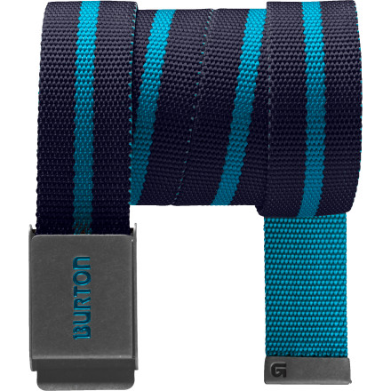 Snowboard Ladies don't want to see your sweat-stained undies brah ... they want you to focus on them and not holdin' your pants up with your free hand. Step up to manhood with a basic wardrobe upgradethe Burton Striper Web Belt. - $14.95