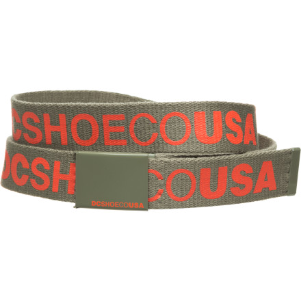 Wear it loud and proud, and to say to the world with authority; I've figured out how to keep my pants up! The DC Chinook 5 Belt rescues you from the played-out, off-the-hip suburban thug look, so you don't have to get turned away from public places anymore. - $15.00
