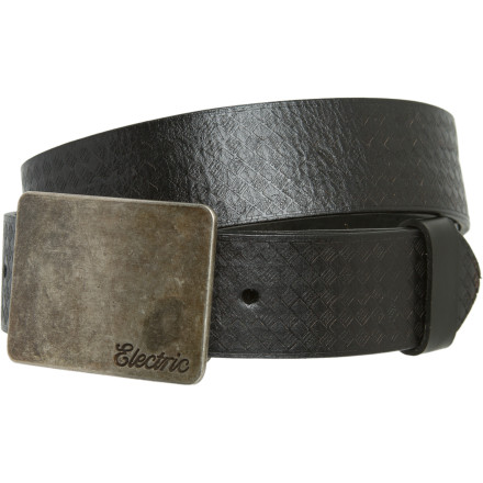 Yeah, the Electric Men's Yeager Belt once knew a guy by the name of Chuckwho's asking' This belt doesn't know anything about the hidden money pocket on the reverse side thoughnope, nothing at all. - $32.96
