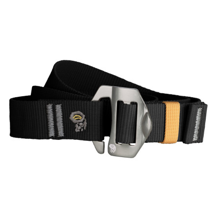 Camp and Hike Cinch up the Mountain Hardwear Alloy Nut Belt and ensure that your drawers dont fall down in the middle of the trail again. This recycled polyester webbing belt features an aluminum alloy compression buckle and a screen print nut logo for added style. - $29.95