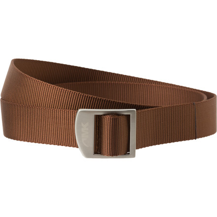 Keep your cool up and your pants up with the Mountain Khakis Webbing Belt. This quick-dry nylon belt handles your creek-crossing, mountain-mastering adventures, and stainless steel teeth bite hard to prevent you from dropping your drawers at an inopportune moment. - $24.90