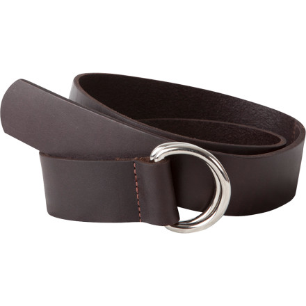 Instead of taping your worn belt together with electrical tape, invest in the Mountain Khakis Leather D-Ring Belt. Its durable leather fabric stands up to your mountain-man shenanigans, while its D-Ring adjustment makes cinching up a breeze. - $59.90