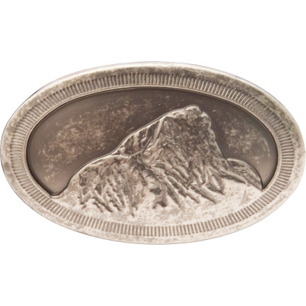 Ski A man without a pewter belt buckle embossed with the Teton Peak, like, say, the Mountain Khakis Teton Belt Buckle, is just a guy in a great pair of work-ready pants, a plaid shirt, and cowboy hat. - $24.90