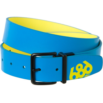Add some color to your kit with the 686 Multi Reversible Belt, and when your mood changes, you can flip this belt over and reverse it to mix things up. Solid on one side and printed on the other, this belt also provides a fun way to test grandma's memory when you get bored at Sunday brunch. - $14.97