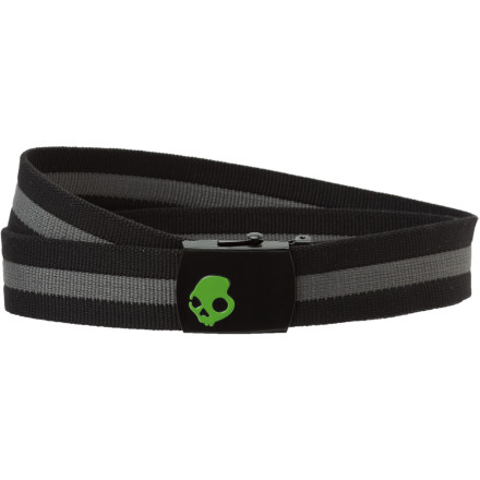 Snowboard Get the Skullcandy Rasta Web Belt to match the sticky green resin under your fingernails. Before you take the longboard on a cruise to your Jamaican friends shanty, put on the Rasta Web Belt and secure your pants and all your pocketed items from falling into the street in front of random bike cops. - $8.97
