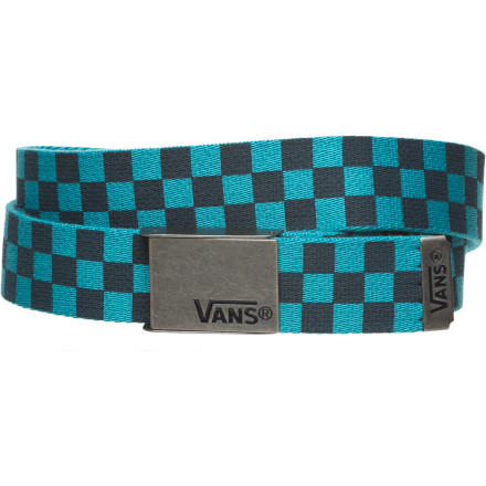Skateboard Strap on the Vans Deppster belt and youll instantly have Spicoli style and Boy Scout clout. A cool bonus - if youre handy with scissors, pliers, and a lighter, you can cut the belt down to exactly the size you want. This is an especially handy feature for all you Biggest Loser contestants out there. - $14.95