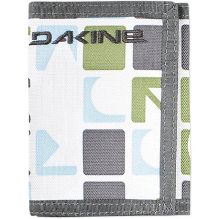 Entertainment Landing hard at the skate park won't ruin the rugged nylon DAKINE Vert Rail Wallet. The trifold Vert Rail Wallet has space for your bills and credit cards and a window for your ID. This DAKINE wallet seals with a hook-and-loop fastener so you won't lose your life savings when you do a hand plant. - $9.95