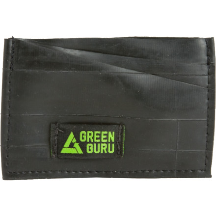 Entertainment That wad of receipts and cards isn't impressing anyone. Step up your appearance with the eco-friendly Green Guru Gear Bike Tube Card Wallet. - $6.44