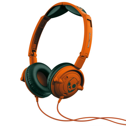 Entertainment The Skullcandy Lowrider Headphones w/Mic will send sound directly into the part of your brain that is responsible for what scientists call the 'holy shit' reflex. The triggering of this reflex often leads to toothy grins and nodding your head to the beat. - $34.95