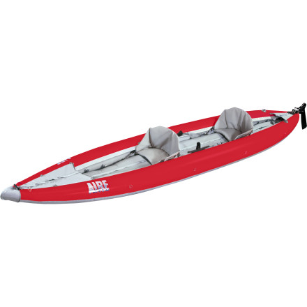 Kayak and Canoe The Aire Sea Tiger Tandem Inflatable Kayak is a fully sea-worthy kayak that's stable enough for offshore adventures and packable enough to fit in the trunk of your car. This boat boasts an impressive array of features including tough, high-denier hull material, a triple-chamber inflatable hull design for stability, a pair of adjustable seats, and a removable rudder system that improves overall maneuverability. In a matter of minutes you can unroll this boat, inflate it, attach the seats, load up, and paddle anywhere from the warm coast of California to the chilly waters of Northern Maine. - $1,991.20