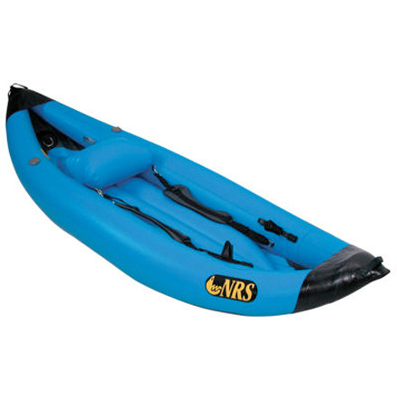 Kayak and Canoe Roll the NRS MaverIK Performance Package Inflatable Kayak up and stash it in your truck. Drive. Hop out, inflate, and run the Grand Canyon. Removable foot braces and lace-in thigh straps provide leverage and stroke power for the utmost performance in big water. - $1,355.75