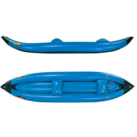 Kayak and Canoe Grab the NRS MaverIK II Inflatable Kayak when you and a buddy are heading out to spend the day floating. This two-person kayak features an extended waterline and high rocker angles so it tracks well in flat water and powers through waves when the river gets a little pushy. - $1,355.75