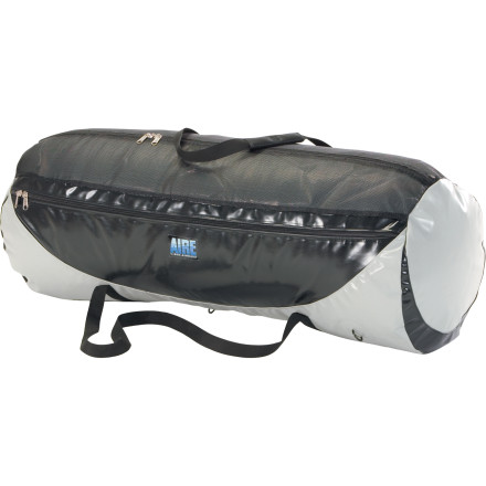 Kayak and Canoe Inflatable kayaks are great, until you have to move all that bulk when it's deflated. Pick up the Aire Kayak Bag and haul most one- or two-person kayaks and a pump inside this backpack-style duffel. This bag also keeps your water gear contained whether it's a pile of PFDs, two-piece paddles, helmets, a pile of throw bags, or just a greenhorn river guide in need of some hazing. Durable, water-resistant construction puts up with all the abuse of life lived near rocks and water, removable backpack straps make carrying easy, and four pockets organize the small stuff. - $89.95