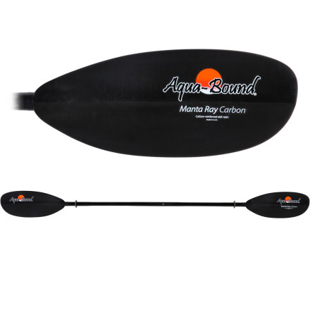 Kayak and Canoe A carbon shaft and carbon blades keep the Aqua-Bound Manta Ray Carbon 2-Piece Paddle super light as you train for the next adventure race. Not into races' Thats coolthe Manta Ray blasts through coastal waves and slices smoothly through the water on your fitness paddles too. - $179.95