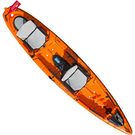 Kayak and Canoe Anglers are a dedicated bunch, and the Jackson Kayak Big Tuna Kayak is a dedicated sit-on-top angling boat. This boat features a dizzying array of features to help you land massive catches, not the least of which is the one-of-a-kind live-bait tankwell that circulates fresh water from below the boat without the use of electronics or plumbing. Just ahead of the comfortable Elite Seats you'll find wide standing platforms that take advantage of this boat's massive primary and secondary stability, allowing you to stand tall for the best possible casting position. Grab a buddy, stash your rods underneath the rear hatch, and load up for a day of fishing from this top-shelf, kayak-angling platform. - $1,599.00