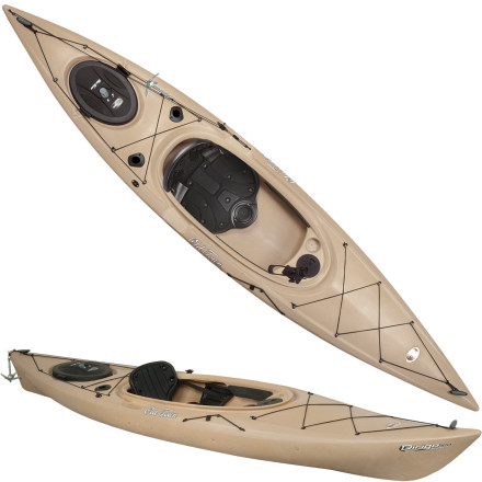 Kayak and Canoe Sometimes the largest fish are found off shores only accessible by boat. Let the Ocean Kayak Dirigo 120 Angler Kayak take you to the furthest shores. Purpose-built holders keep your rods close at hand, padded seating keeps you comfortable while you wait for the fish, and a stable hull design allows you to cast aggressively in any direction without fear of flipping over. This 12-foot boat allows you to sneak into tight coves with all your fishing gear and land a prize winner without ever firing up a motor. - $722.46