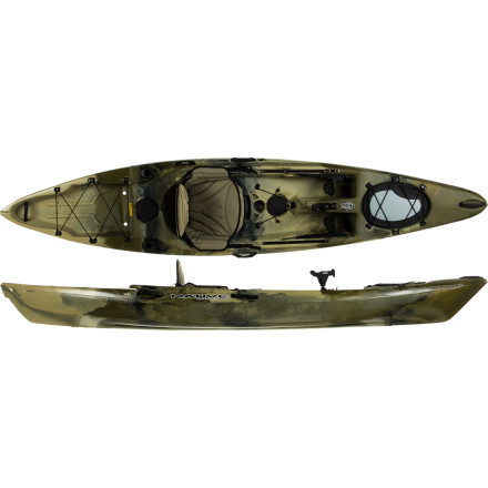 Kayak and Canoe The Native Watercraft Manta Ray 12 Angler Kayak comes fully outfitted and ready to hunt down the big ones. This comfortable, stable sit-on-top includes two Sea Dog flush deck rod holder mounts, a Scotty deckside rod holder, and a Scotty spin cast rod holder so you have a place for everything and everything in its place. Ideal for any type of water, the Manta Ray features a slight rocker (lifted stern and bow) design that allows you to steer easily in tighter spots and choppy conditions. - $1,068.95