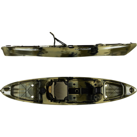 Kayak and Canoe Through Native Watercraft's project, Automatic for the People, the designers have collected customer input and created a kayak fishing boat that has fishing enthusiasts drooling. The Slayer Kayak has more than enough storage for all of your fishing gear, and this sit-on-top features a high-low seat that's easy to reposition, a clean deck layout that offers ample room to stand, rig, strip line, or chill, and a plethora of molded inserts for your gear. - $1,061.06