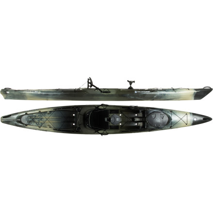 Kayak and Canoe Serious fishing requires a seriously capable boat, and the Wilderness Systems Tarpon 160 Angler Kayak was designed with the gear capacity, comfort, and paddling prowess to achieve that level of capability. Defined chine lines and smooth contours give this boat stability and efficiency on the water, and extra length helps the hull carry more gear without bogging down. Rod holders keep your rod close at hand so you can react fast when a fish is on the line, and there's plenty of storage for all your other goodies. Suddenly long paddles are easy on the arms and reaching what you need is easier than everis it fishing season yet' - $1,269.00