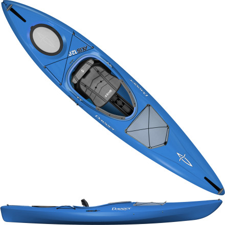 Kayak and Canoe The Dagger Axis 12.0 Kayak is the ideal boat for the multi-use paddler. The high volume of the Axis is ideal for both easy ocean surf and inland rivers, while an adjustable skeg allows you to track straight when paddling on lakes or ponds. - $849.00