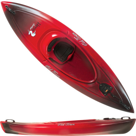Kayak and Canoe The Old Town Heron Jr Kayak is an award-winning boat just for your kids. Nimble, maneuverable, and easy for any kid to paddle, this boat glides fast and boasts rock-solid stability. Padded seating keeps your child comfortable on the lake or the pond and, when his or her arms get tired, the Tag Along system makes it easy to tow this kayak behind your own. - $299.95