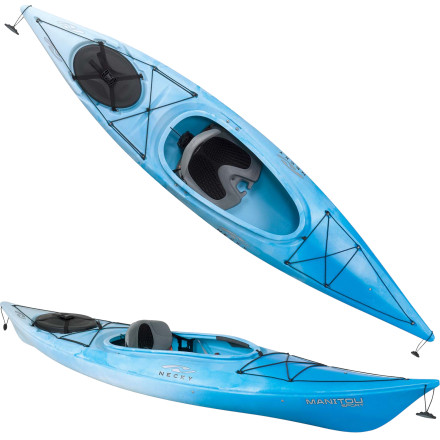 Kayak and Canoe You dig the quiet and serenity that comes with paddling seamlessly through open water. Slip into the Necky Manitou Sport Kayak and glide peacefully toward the horizon. - $599.99