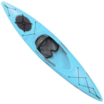 Kayak and Canoe Designed for beginning paddlers looking to develop skills and maximize fun, the Necky Rip 12 Kayak balances overall stability with an inherent sense of playfulness. The spacious cockpit doesn't feel restrictive as you trace the shoreline of your chosen lake, and the efficient hull with a sharp keel deliver a smooth glide stroke after stroke. - $559.99