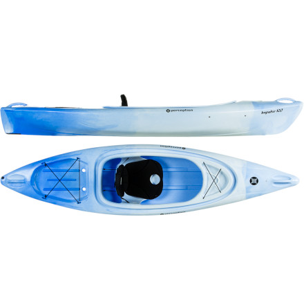 Kayak and Canoe Friendly to beginners or families of varying skills, the simple and stable Perception Impulse 10.0 Kayak is an everyday joyride. With enough rigging to keep the sportsman happy, a wave-chomping, slightly rockered bow for the adventurous paddler, and the wide, gradual, smooth-cruising hull shape for a peaceful float, this boat has something for everyone. Throw this compact boat on top of your car or in your truck, pack the ample stern and bow tankwells with gear and goodies for all, and fill your day with watersport fun without emptying your wallet. - $399.00
