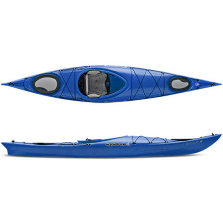 Kayak and Canoe Fast, outfitted with ample comfort and storage, and shaped with streamlined lines, the Liquid Logic Inuit 12.5 Kayak treats you to a touring experience like none other. As the shortest of the Inuit Series, the 12.5 Kayak offers turn-on-a-dime maneuverability without sacrificing vital storage space for your camping kit. Liquid Logic's engineers cleverly designed the Tru-Track II Hull to track straight as an arrow and paddle so efficiently you'll wonder how you traveled so far, so fast. - $948.95