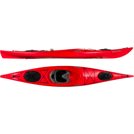 Kayak and Canoe Newcomers will appreciate the combined maneuverability and tracking of the Necky Kayaks Manitou 130R Kayak. An integrated keel helps this hull feel more precise on the water and a high-volume bow keeps the ride nice and smooth, even through rough or windy conditions. This well-rounded boat feels equally at home on a lake or along the coast and hauls a bit of gear so you can stay out on the water all day. - $1,029.99