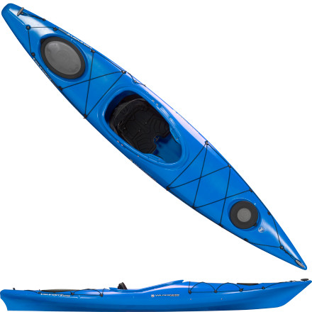 Kayak and Canoe Easily navigate tight coves or twisting inlets when you're behind the helm of the Wilderness System Tsunami 125 Kayak. Smooth hulls lines and a touch of bow rocker lend this boat a nimble feel, and the deep hull provides more than enough space for larger paddlers to comfortably slide into the cockpit. Load the bow and stern hatches with gear and enjoy a day on the water in this light touring boat. - $999.00