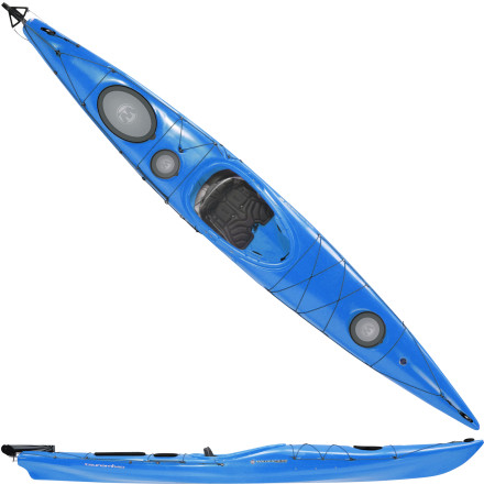 Kayak and Canoe Slide into the roomy cockpit of the Wilderness Systems Tsunami 140 Kayak with Rudder and you'll be able to easily navigate tight, twisting inlets or race across long stretches of choppy, open water. Smooth contours and a touch of bow rocker keep the handling nimble, while the deep hull gives larger paddlers the space they need to feel comfortable. This light touring boat packs plenty of storage space, an accessory rudder for added directional control in foul weather, and the easy-handling attitude that makes it friendly for boaters of almost any experience level. - $1,369.00